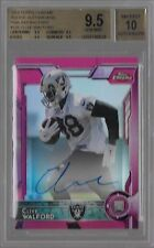 2015 Topps Chrome Pink Refractor Clive Walford Auto Rc /75 BGS 9.5 & Auto 10
