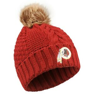 Washington Redskins NFL Light-Up Beanie All Maroon Strip Beanie Hat