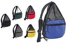 ImpecGear Small Lightweight Zippered Travel Gym Hiking Portable Mesh Backpack