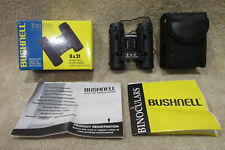Bushnell 8X21 Powerview Compact Binoculars 1993 Model: 13-2514 w/ Instructions