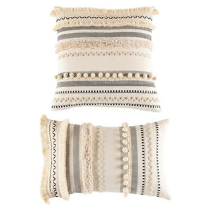 Moroccan Boho Throw Pillow Covers Cotton Woven Decorative Cushion Covers
