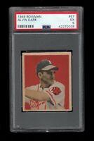 1949 Bowman BB Card # 67 Alvin Dark Boston Braves ROOKIE CARD PSA EX 5 !!!