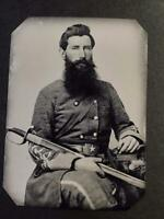 Sixth-Plate Civil War Soldier Tintype C2357RP