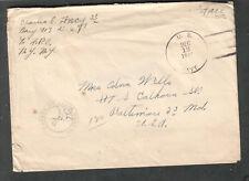 WWII Naval censor cover Charles E Frey S 1/c Navy 413? Santa Elena Bay Ecuador