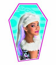 Kids Monster High Abbey Bominable Child Wig Headpiece Disguise Party Halloween