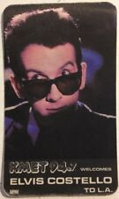 Elvis Costello Vintage Original Concert Tour Cloth Backstage Pass