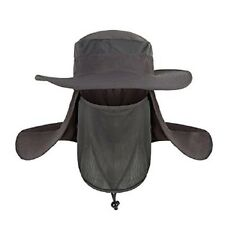 Mr. Garden Outdoor Sun Protection Fishing Cap Neck Face Flap Hat Grey