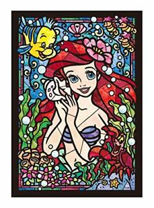 Jigsaw Puzzle Stained Art Disney Ariel stained glass 266pcs DSG-266-751