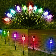 Solar Powered LED Outdoor Light Lawn Patio Pathway Landscape Garden Walkway Lamp