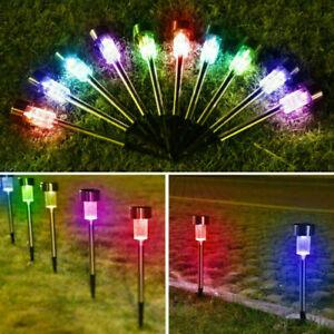 Solar Powered LED Outdoor Light Lawn Patio Pathway Landscape Garden Walkway Lamp