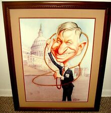 Original Painting of WILL ROGERS by ROMAN GENN (National Review) - One of A Kind