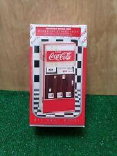 Rare Vintage Coca-Cola Die Cast Metal Vending Machine Musical Bank  1996 working