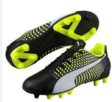 PUMA ADRENO III FG BLACK/YELLOW/WHITE FOOTBALL BOOTS UK SIZE 8