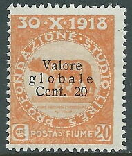 1919 FIUME VALORE GLOBALE 20 CENT MNH ** - P62-7