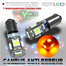 2 AMPOULE 5 LED SMD T4W T2.3W BA9S REPETITEUR ORANGE SONAR ANTI SANS ERREUR ODB