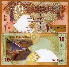 Qatar, 10 Riyals, ND (2008), P-30a, UNC > ornate