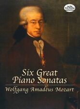 W.A. Mozart Six Great Piano Sonatas Learn to Play Classical Music Book