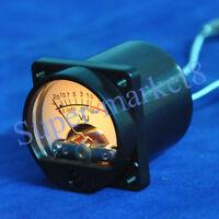 2pcs VU Panel Meter 500μA Warm Back Light LED Recording Audio Level Amp 35x35mm