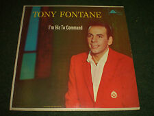 I'm His To Command Tony Fontane~AUTOGRAPHED~1960s Christian Xian~
