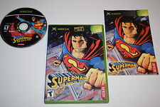 Superman The Man of Steel Microsoft Xbox Video Game Complete