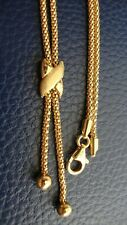 18K 750 SOLID YELLOW GOLD POPCORN LARIAT NECKLACE 17 INCHES 7.5 GRAMS