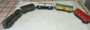 Lionel Pre War 1689E Locomotive 1588 Tender In Grey + 1682, 1680, 1679 Cars