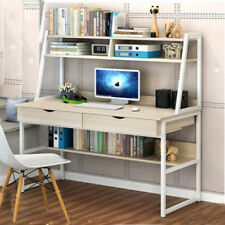 2 Drawer Multifunction Computer Desk PC Writing Table with Shelves Home Office