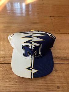 Vintage Starter Michigan Wolverines Flame Snapback Hat Cap Slasher Shockwave