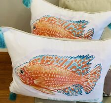 """Letex Home Coral """"Just Keep Swimming"""" Pillows 2 Sold out In Stores"""