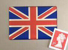 Union Jack Flag Sticker Domed Finish Red, Blue & Chrome 64mm