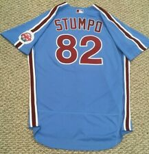 STUMPO #82 size 48 2020 PHILADELPHIA PHILLIES Home RETRO Game Jersey issued MLB