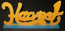 NWT ORANGE WOOD FALL CARVED HOBBY LOBBY DECORATIVE HARVEST SIGN FIGURINE