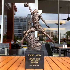 "New Michael JORDAN 23 Mike Jordan Resin Statue Basketball myth 20""H"