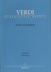 VERDI MESSA DA REQUIEM Vocal Score