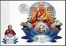 SOLOMON ISLANDS 2016 DALAI LAMA  PHILATAIPEI SOUVENIR SHEET FDC