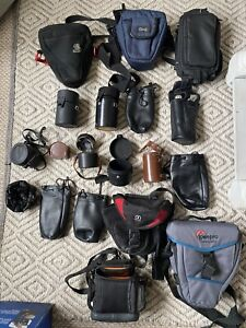 Job Lot Of Used Camera & Lens Bags Carry Cases Various Brands Photography
