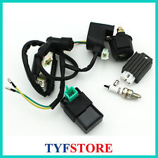 Ignition coil cdi relay regulator Spark plug  for 70cc - 125cc ATV Go Kart