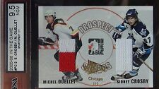 2004-05 SIDNEY CROSBY / OUELLET ITG PROSPECT JERSEY #1/1 2 COLORS NICE CARD