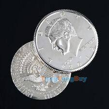 New Close-Up Street Magic Flipper Coin Half Dollar Coin Vanish & Appear