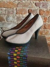 Bernie Mev Women's Legend Pump Nude Metallic Stretch Nylon Comfort Shoes Size 41