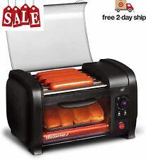 Hot Dog Roller Toaster Oven Sausage Maker Kitchen Cooker Machine Bun Warmer Cook