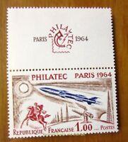 EBS France 1964 PHILATEC Avec Vignette Superieure MNH** YT1422