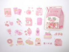 Japanese snacks sticker flakes! Kawaii ramune milk candy cake pop ice cream cute