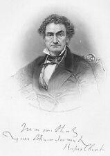 GREAT CRIMINAL TRIAL Defense Lawyer RUFUS CHOATE ~ Old 1877 Art Print Engraving