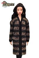 "ELENPRIV striped jersey cardigan for Fashion Royalty FR2 similar 12"" dolls"