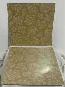 Stampin Up GOLD SOIREE Specialty DSP Paper Cardstock 12x12 Lot of 2