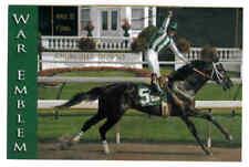 WAR EMBLEM KENTUCKY DERBY WINNER 2002 ROBERT CLARK POSTCARD MINT
