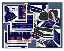 "Accur8 ""Indigo Chameleon Skin"" Kit for Estes Cosmic Interceptor Model Rocket"