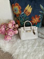 NEW AUTHENTIC COACH White LEATHER SWAGGER 20