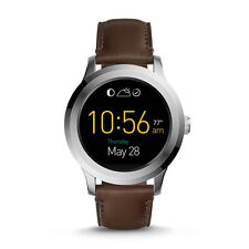 FOSSIL Watch FTW2119 Men's Q Founder 2.0 Touchscreen Smartwatch Leather Brown